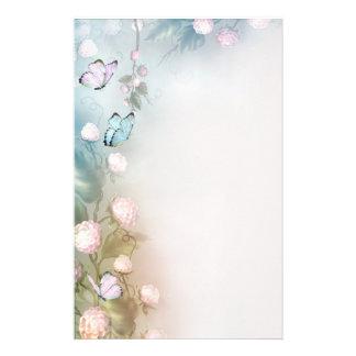 Blommor och fjärilar brevpapper