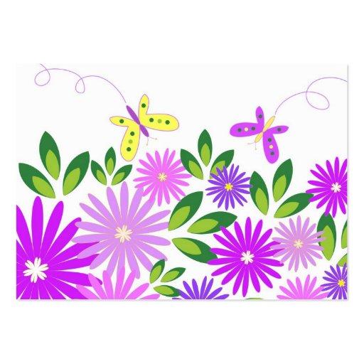Blommor och fjärilar - visitkort