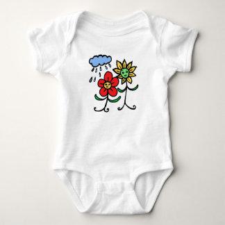 blommor och regnar tee shirt