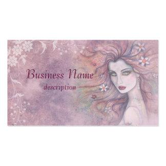 Blommor och skönhetvisitkort set av standard visitkort