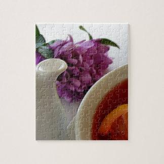 blommor och tea pussel
