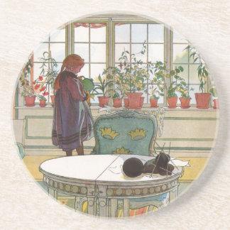 Blommor på fönsterbrädan av Carl Larsson Underlägg