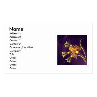 Blommor Set Av Standard Visitkort