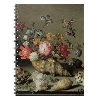 Blommor, snäckor och Insekt Balthasar skåpbil der Anteckningsbok