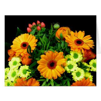 Blommor sparar datera, födelsedagen, Notecard Jumbo Kort