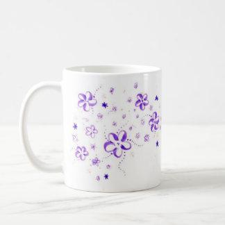 Blommor Vit Mugg