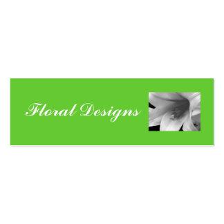 Blomsterhandeln profilerar kortet set av smala visitkort