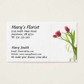 Blomsterhandlaren blommar visitkorten visitkort