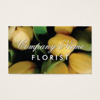 Blomsterhandlarevisitkortmall med tulpanblommor visitkort