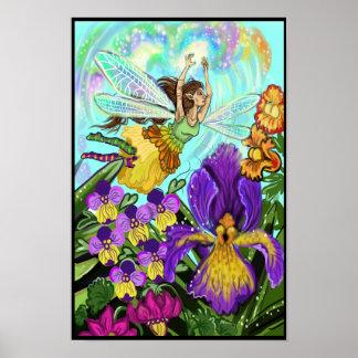 Blomsterträdgårdfemagi Poster