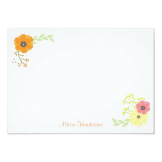 Blomsterträdgårdlägenheten noterar kort 11,4 x 15,9 cm inbjudningskort
