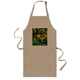 Blomsterträdgårdvattenfärg Långt Förkläde