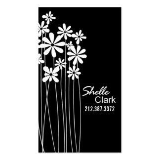 Blomsterträdgårdvisitkortmall Set Av Standard Visitkort
