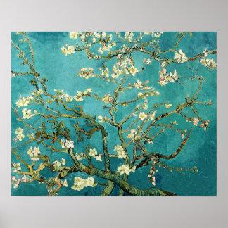 Blomstra blommigten Van Gogh för mandelträdvintage Poster