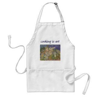 Blomstra kastanjen förgrena sig vid Vincent Van Förkläde
