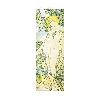 Blond art nouveaugudinna canvastryck