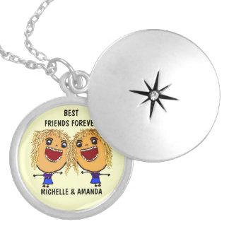 Blond bästa vänför evigttecknad berlockhalsband