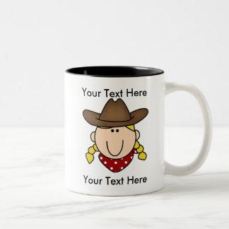 Blond mugg för beställnings- Cowgirl - anpassade