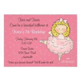 Blondie Ballerina 12,7 X 17,8 Cm Inbjudningskort