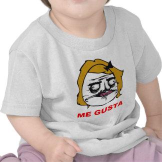 Blont kvinnligt mig Gusta komiskt ursinneansikte M Tee Shirt