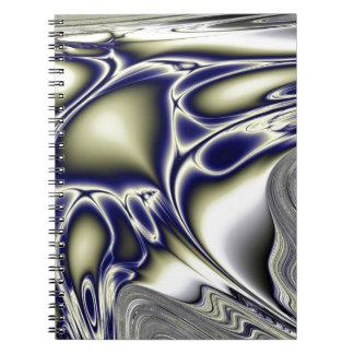 Bloomin blåttFractal Anteckningsbok Med Spiral