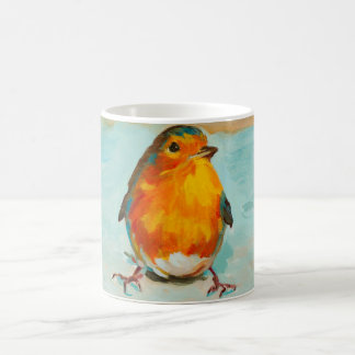 BloOrp! Det engelska röda Robinet på blåttbakgrund Kaffemugg