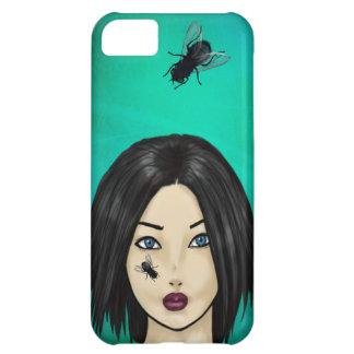 Blowfly på flickan (febergrönt) iPhone 5C fodral