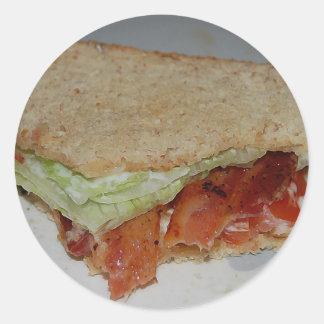 BLT-smörgåsklistermärke Runt Klistermärke