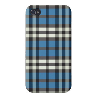 Blue/Black Plaid Pern iPhone 4/4S Cover