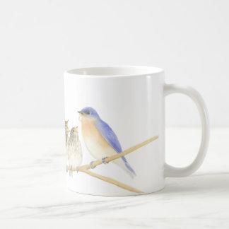 Bluebirds i vattenfärgmugg kaffemugg