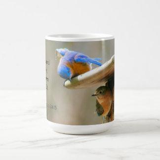 Bluebirds med bibelVerse Kaffemugg