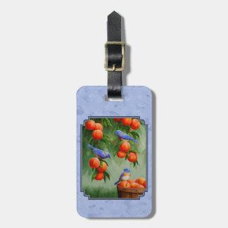 Bluebirds och persikablått bagagebricka