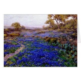 Bluebonnets på skymningen, nord av San Antonio Hälsningskort