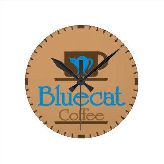 Bluecat kaffe medium rund klocka