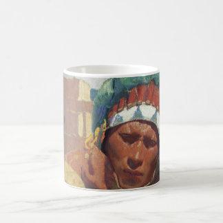 Blumenschein porträtt för Taos indianindier Kaffemugg