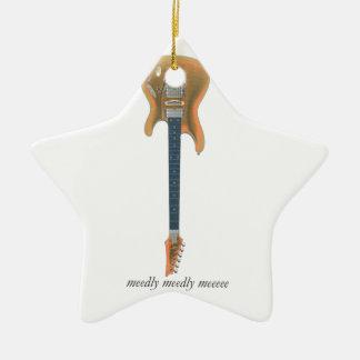 Bly- gitarr stjärnformad julgransprydnad i keramik