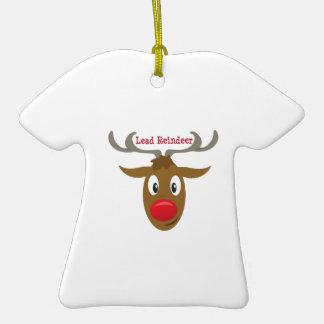 Bly- ren  T-Shirt formad julgransprydnad i keramik