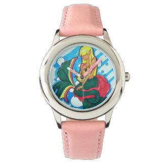 Blyg sjöjungfru armbandsur
