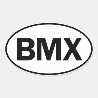 BMX-Ovallegitimation Ovalt Klistermärke