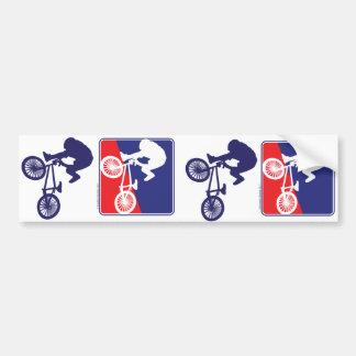 BMX-ryttare - röd vit och blått Bildekal