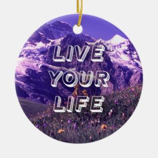 Bo ditt liv julgransprydnad keramik