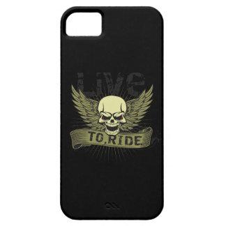 Bo för att rida skallen med vingar iPhone 5 fodral