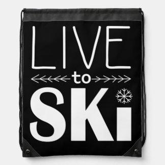 Bo för att skida attraktion stränger hänger lös gympapåse