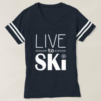 Bo för att skida kvinna skjorta t-shirts