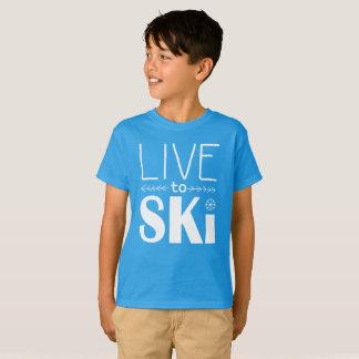 Bo för att skida ungeskjortan t-shirt