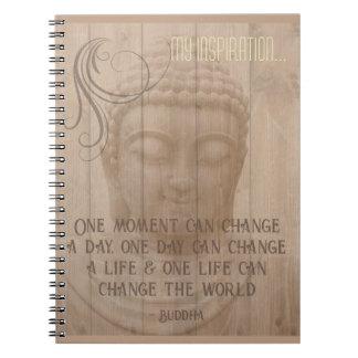 Bo i ordstävet för buddisten för ögonblicksBuddha Anteckningsbok Med Spiral
