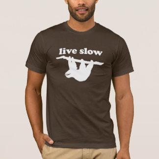 Bo långsamt - den roliga Slothdesignen Tröja