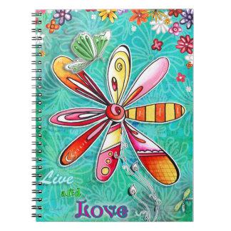 Bo och älska anteckningsboken anteckningsbok