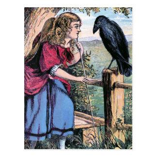 Bo-Pip och kråkavintageillustrationen Vykort