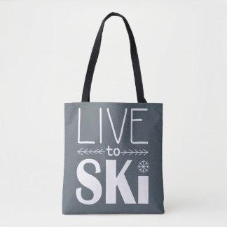 Bo till Ski hänger lös - grå färg Tygkasse